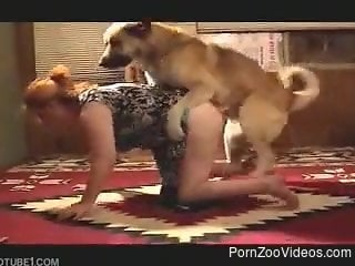 Mature hard fucking with the dog in brutal zoophilia scenes