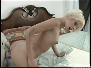Rough bedroom dog porn with a very hot amateur blonde