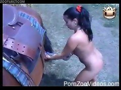 Naked amateur women brutal sex with horses in zoo compilation