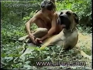 Dirty girl have nasty game with her lovely doggy