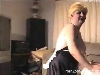 Horny as hell doggy bangs a busty MILF in the doggy style