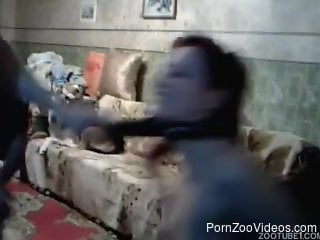 Amateur goes wild on cam by fucking with the dog