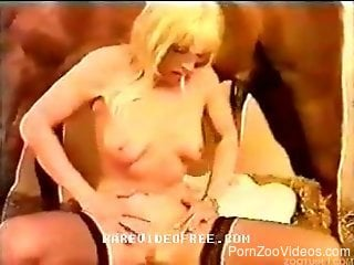 Horse anal sex in brutal modes with a blonde milf