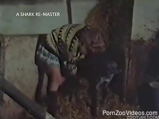 Impressive dog bestiality action with two girls in vintage ani...