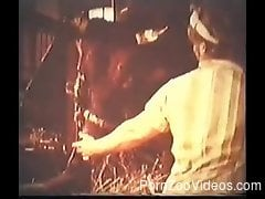 Retro bestiality video featuring extreme sex